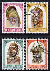 Papua New Guinea 1964 Native Artefacts (Masks) set of 4 fine cds used, SG 51-54, stamps on , stamps on  stamps on artefacts, stamps on  stamps on masks