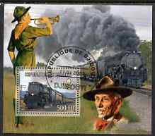 Djibouti 2007 Steam Trains #2 perf m/sheet with Scouts in background fine cto used
