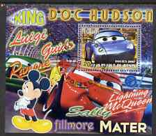 Benin 2007 Disney's Lightning McQueen #2 perf m/sheet showing Sally fine cto used
