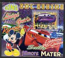 Benin 2007 Disney's Lightning McQueen #6 perf m/sheet showing Ramone fine cto used