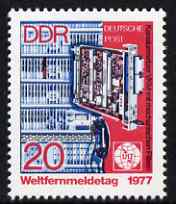 Germany - East 1977 World Telecommunication Day 20pf unmounted mint, SG E1935