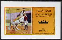 Nagaland 1973 Royal Wedding (Horses) imperf souvenir sheet unmounted mint