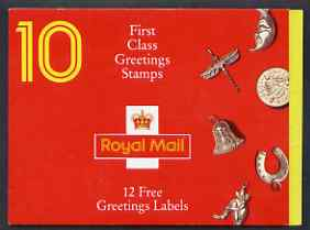 Booklet - Great Britain 1991 Greeting Stamps (Good Luck) booklet containing pane of 10  plus 12 labels