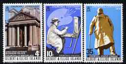 Gilbert & Ellice Islands 1974 Birth Centenary of Sir Winston Churchill perf set of 3 unmounted mint SG 240-42