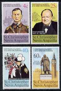 St Kitts-Nevis 1974 Birth Centenary of Sir Winston Churchill perf set of 4 unmounted mint SG 307-10