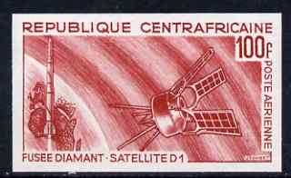 Central African Republic 1966 Launcing of Satellite D1 imperf colour trial unmounted mint, as SG 122 (several different colours available but price is for ONE)