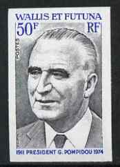 Wallis & Futuna 1975 Pres Pompidou 50f imperf from limited printing, unmounted mint as SG 248