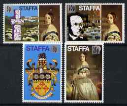 Staffa 1972 def set of 4 surcharged & opt