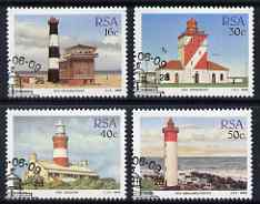 South Africa 1988 Lighthouses set of 4 fine used with special cancel, SG 649-52