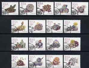 South Africa 1988 Succulents perf set of 17 values (ex 21c) fine used with special cancel, SG 654-68a