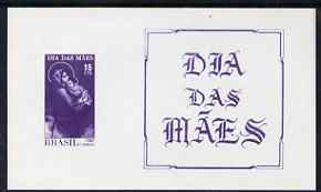 Brazil 1967 Mother's Day (Madonna & Child) imperf m/sheet, unmounted mint SG MS1175