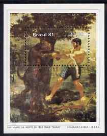 Brazil 1981 Death Centenary of Felix Emile (artist) perf m/sheet unmounted mint, SG MS1890