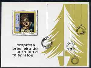 Brazil 1969 Christmas (Madonna & Child) imperf m/sheet unmounted mint, SG MS1280