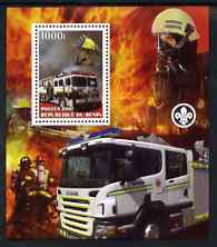 Benin 2007 Fire Fighters #1 perf m/sheet with Scout Logo, unmounted mint