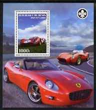 Benin 2007 Ferrari Cars perf m/sheet with Scout Logo, unmounted mint