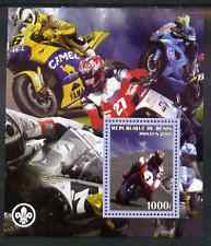 Benin 2007 Motorcycles #2 perf m/sheet with Scout Logo, unmounted mint