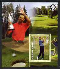 Benin 2007 Tiger Woods perf m/sheet with Scout Logo, unmounted mint