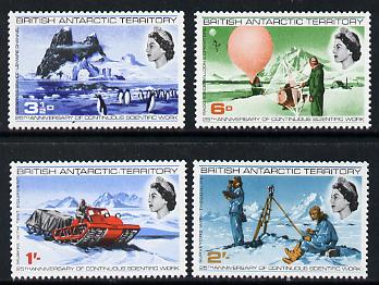 British Antarctic Territory 1969 25th Anniversary of Continuous Scientific Work set of 4 unmounted mint, SG 20-23