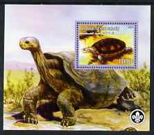 Palestine (PNA) 2007 Tortoises perf m/sheet with Scout Logo, unmounted mint. Note this item is privately produced and is offered purely on its thematic appeal