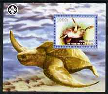 Benin 2007 Turtles perf m/sheet with Scout Logo, unmounted mint