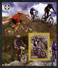 Benin 2007 Cycling perf m/sheet with Scout Logo, unmounted mint
