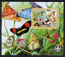 Benin 2007 Butterflies #2 perf m/sheet with Scout Logo, unmounted mint