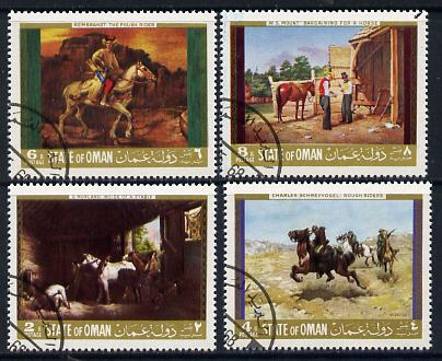 Oman 1968 Paintings of Horses set of 4 cto used