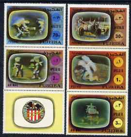 Fujeira 1972 Apollo 16 perf set of 5 unmounted mint, Mi 890-94