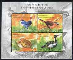 India 2006 Endangered Birds perf m/sheet unmounted mint