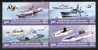 India 2006 Review of the Fleet perf se-tenant block of 4 unmounted mint