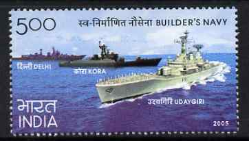 India 2005 Navy Day 5r unmounted mint, SG 2299