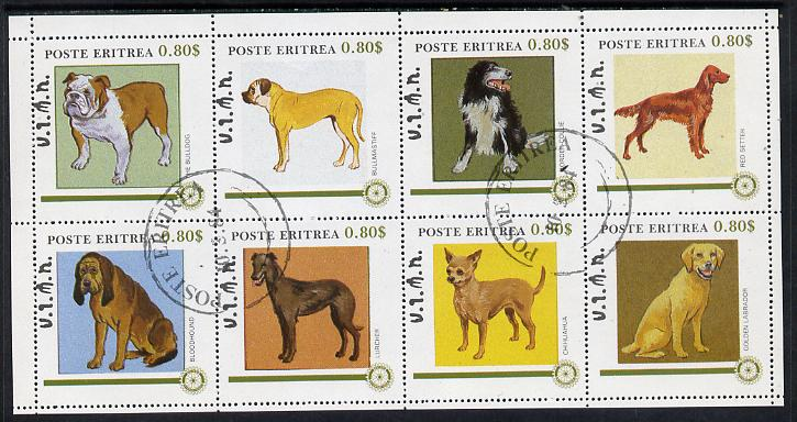 Eritrea 1984 Rotary - Dogs perf set of 8 cto used