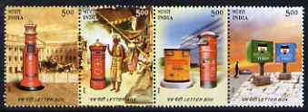 India 2005 Letterboxes perf se-tenant strip of 4 unmounted mint SG 2283-86