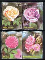 India 2007 Fragrance of Roses perf set of 4 unmounted mint