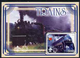 Timor 2001 Trains #2 perf m/sheet fine cto used
