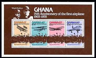 Ghana 1978 75th Anniversary of Powered Flight perf m/sheet unmounted mint, SG MS844