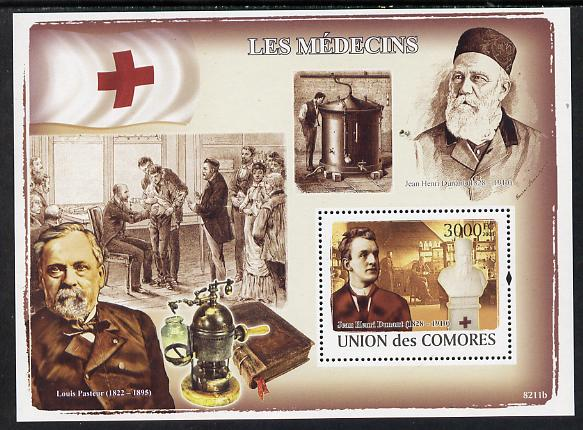 Comoro Islands 2008 Famous Doctors perf s/sheet unmounted mint