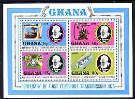 Ghana 1976 Telephone Centenary perf m/sheet unmounted mint, SG MS795