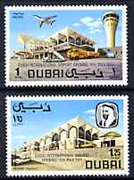 Dubai 1971 Opening of Dubai International Airport perf set of 2 unmounted mint, SG 372-3