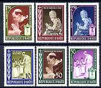 Haiti 1959 Pope Pius XII Commemoration perf set of 6 unmounted mint, SG 622-7