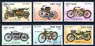 Vietnam 1985 Centenary of Motor Cycle perf set of 6 values only fine cto used, SG 828-33