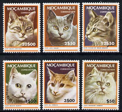 Mozambique 1979 Domestic Cats set of 6  unmounted mint SG 740-45