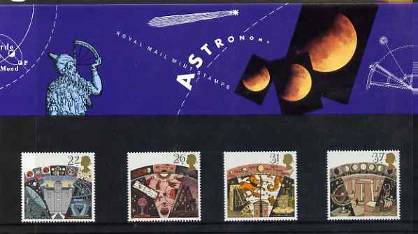 Great Britain 1990 Astronomy set of 4 in official presentation pack, SG 1522-25