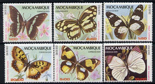 Mozambique 1979 Stamp Day (Butterflies) set of 6 unmounted mint SG 791-96