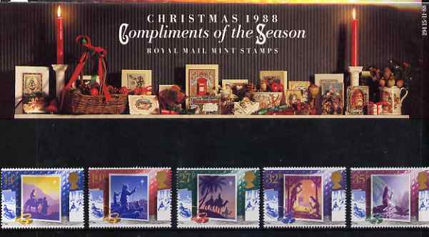 Great Britain 1988 Christmas - Christmas Cards set of 5 in official presentation pack SG 14145-18