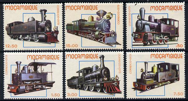 Mozambique 1979 Early Locomotives set of 6 unmounted mint SG 779-84