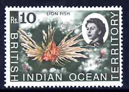 British Indian Ocean Territory 1968-70 Lionfish 10r unmounted mint, SG 30