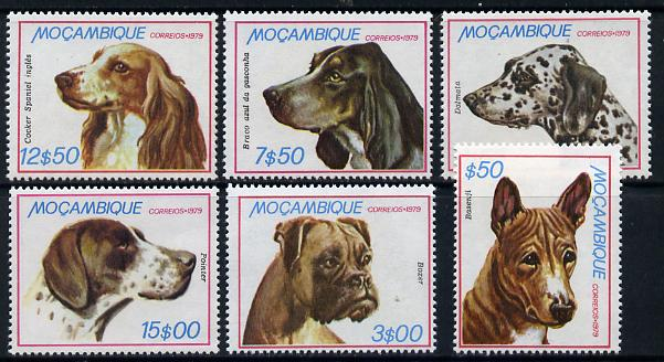 Mozambique 1979 Dogs set of 6 unmounted mint SG 785-90