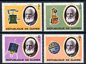 Guinea - Conakry 1976 Telephone Centenary perf set of 4 unmounted mint, SG 907-10