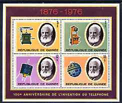 Guinea - Conakry 1976 Telephone Centenary perf sheetlet containing set of 4 values, unmounted mint, SG MS911